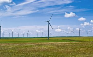 Wind farm generating sustainable energy